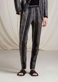 Linen Exotic Stripe Pant, thumbnail 2
