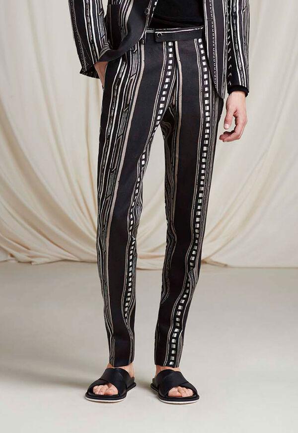 Linen Exotic Stripe Pant, image 2