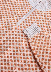 Cashmere Blend Parquet Half Zip Pullover, thumbnail 2