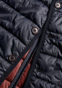 Nylon Button Front Quilted Vest, thumbnail 4