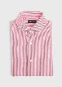 Stripe Round Collar Dress Shirt, thumbnail 1