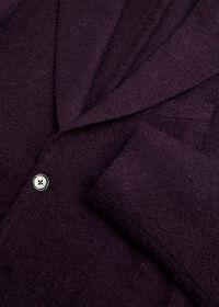 Solid Crimson Fuzzy Soft Jacket, thumbnail 2