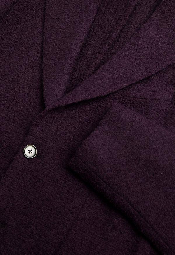Solid Crimson Fuzzy Soft Jacket, image 2