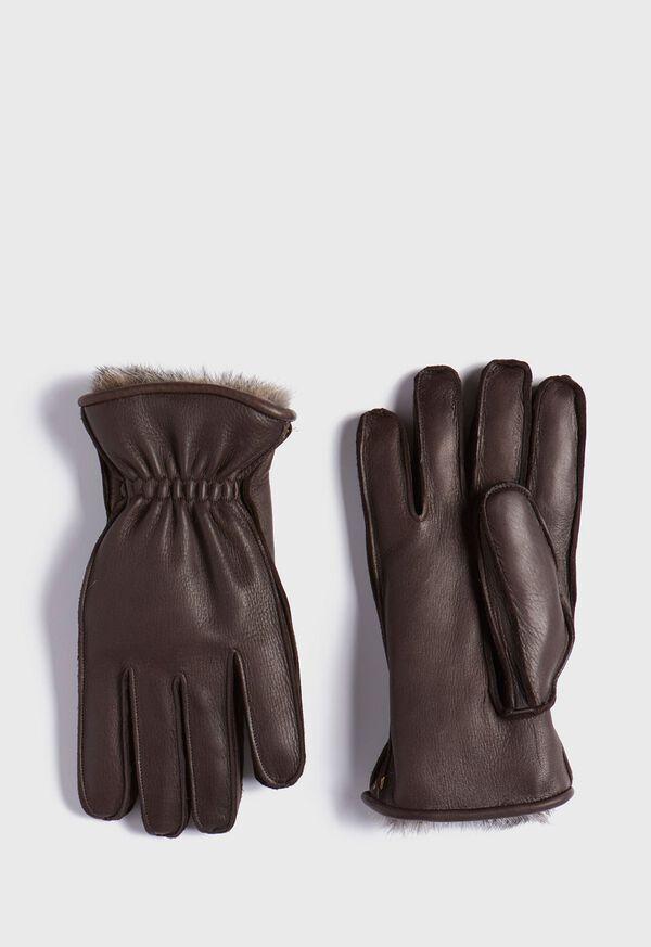 Deerskin Glove with Rabbit Fur, image 1