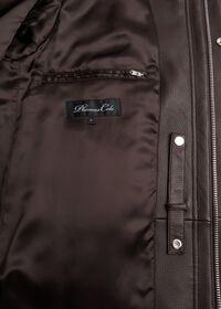 Leather Zip Up Coat, thumbnail 4
