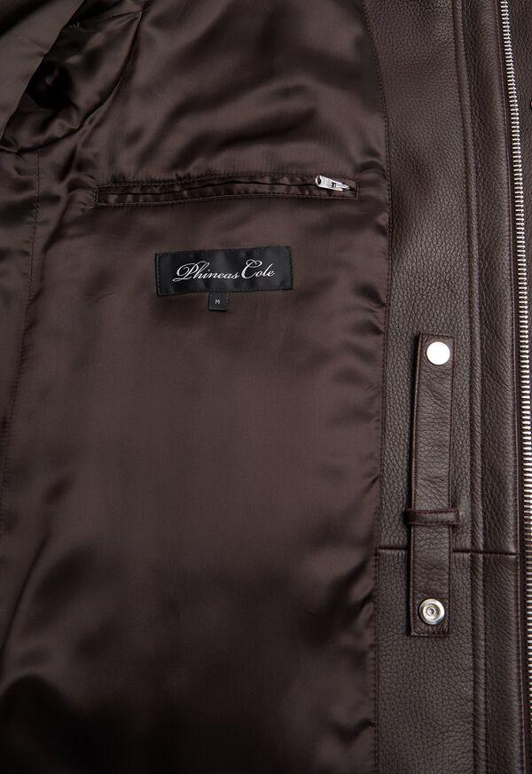 Leather Zip Up Coat, image 4