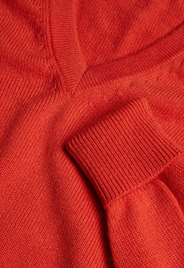 Cashmere V-Neck Sweater, image 2