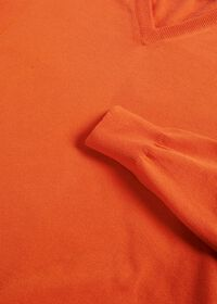 Cotton V- Neck Sweater, thumbnail 2