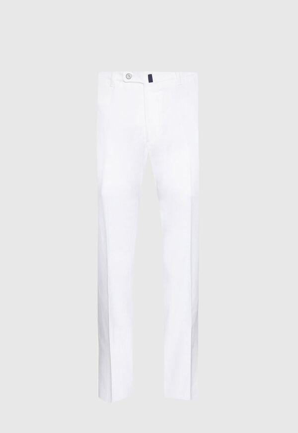 White Linen Blend Trouser