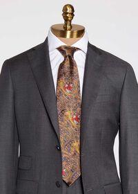 Gold Fox Horn Paisley Silk Tie, thumbnail 2
