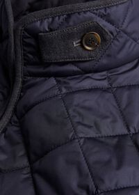 Nylon Quilted Vest with Piping, thumbnail 3