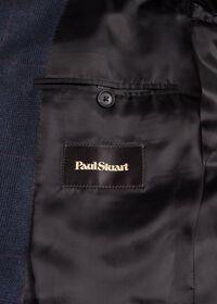 Navy Plaid Soft Shoulder Suit, thumbnail 4