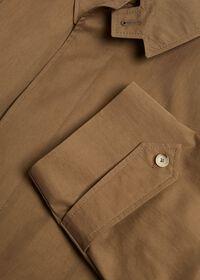 Tan A-Line Rain Coat, thumbnail 2