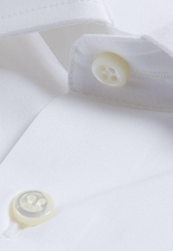 Slim White Poplin Dress Shirt, image 2