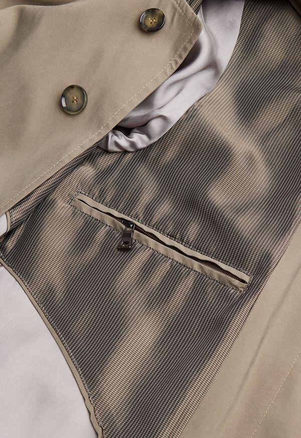 Suede Finish Raincoat, image 3