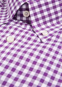 Gingham Cotton Dress Shirt, thumbnail 2