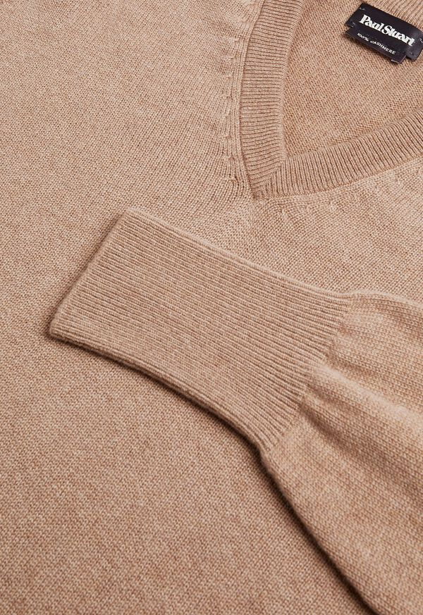 Scottish Cashmere V-Neck Sweater, image 3