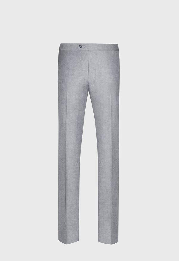 Silver Grey Plain Front Super 110s Trouser, image 1