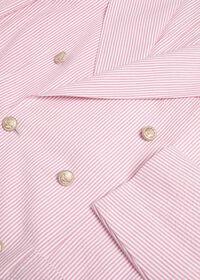 Pink & White Cotton Seersucker Jacket, thumbnail 2