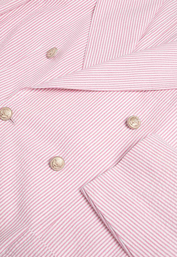 Pink & White Cotton Seersucker Jacket, image 2
