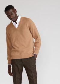 Scottish Cashmere V-Neck Sweater, thumbnail 24