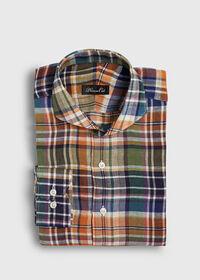 Linen Plaid Sport Shirt, thumbnail 1