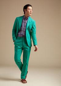 Green Cotton Blend Denim Jacket, thumbnail 4