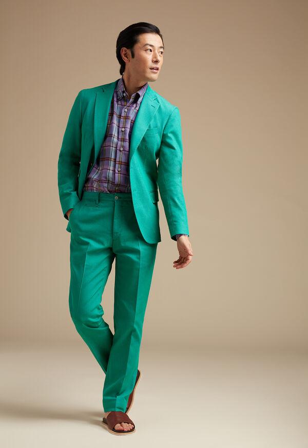 Green Cotton Blend Denim Jacket, image 4