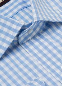 Gingham Check Cotton Dress Shirt, thumbnail 3