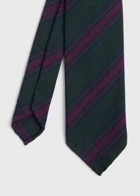 Wool Blend Stripe Tie, thumbnail 1