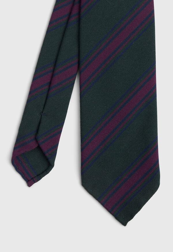 Wool Blend Stripe Tie, image 1