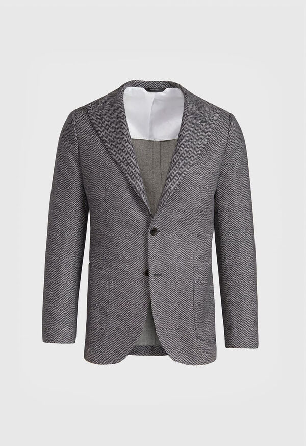Herringbone Print Wool Blazer, image 1