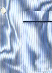 Narrow Stripe Pajamas with Navy Piping, thumbnail 2