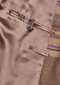 Oatmeal and Rose Wool Blend Plaid Sport Jacket, thumbnail 5