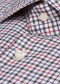 Spread Collar Tattersall Shirt, thumbnail 2