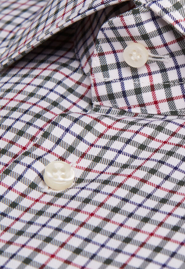 Spread Collar Tattersall Shirt, image 2