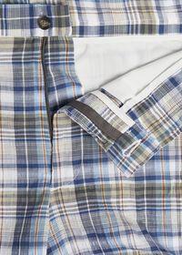 Dark Blue Plaid Walk Shorts, thumbnail 2