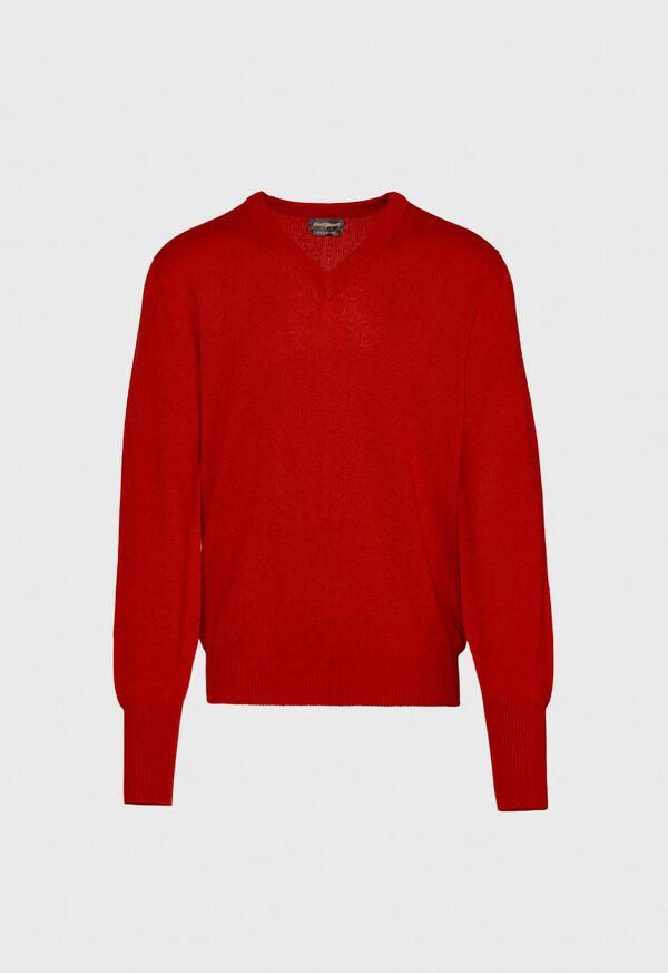 Scottish Cashmere V-Neck Sweater, image 18