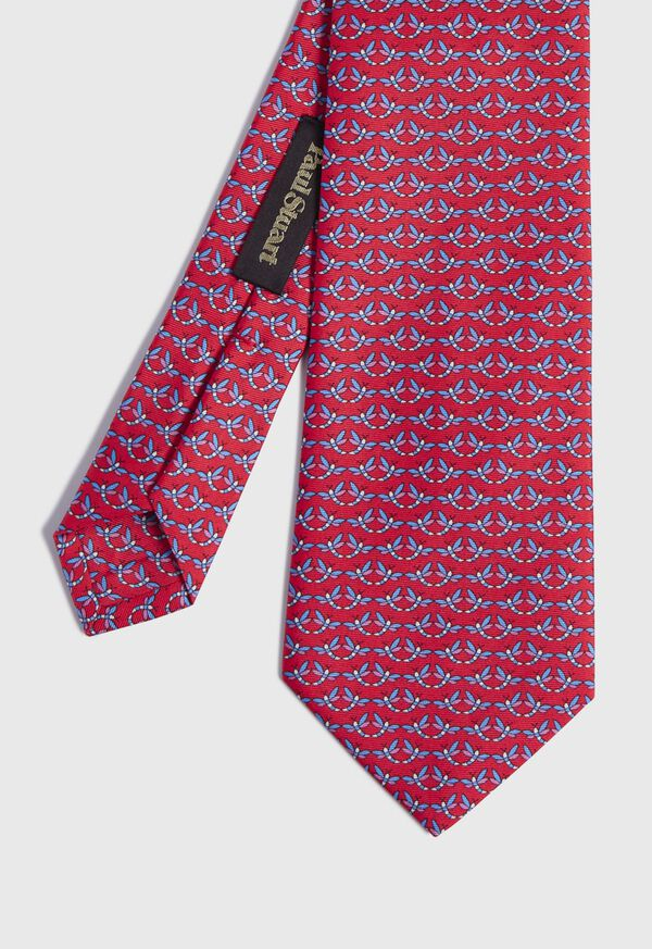 Dragonfly Print Tie, image 1