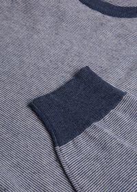 Fine Stripe Crew Neck Pullover, thumbnail 2