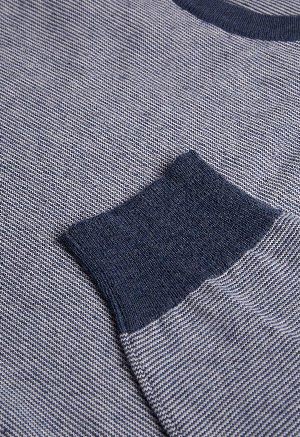 Fine Stripe Crew Neck Pullover, image 2