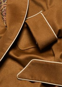 Dark Camel Cashmere Robe, thumbnail 2