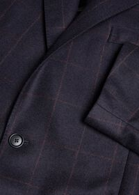 Soft Shoulder Wool Windowpane Suit, thumbnail 4