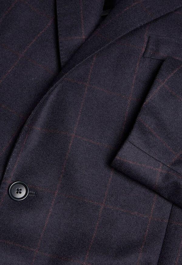 Soft Shoulder Wool Windowpane Suit, image 4