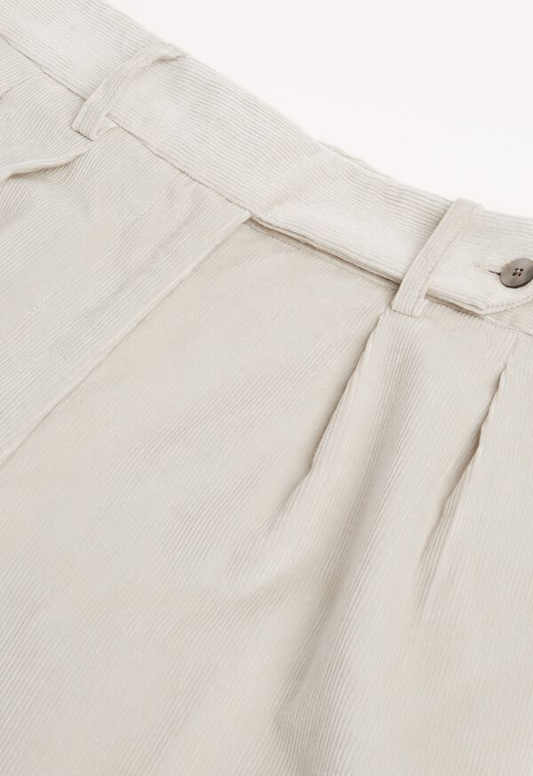 Pleated Corduroy Trouser, image 2
