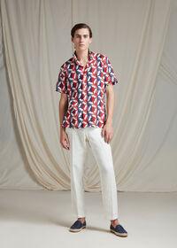 Linen Buoy Print Shirt, thumbnail 2
