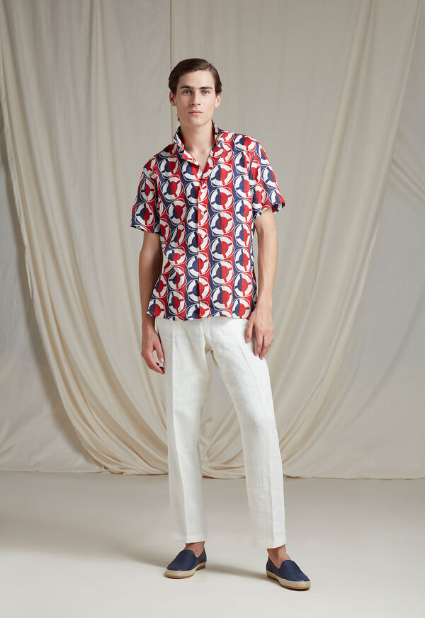 Linen Buoy Print Shirt, image 2