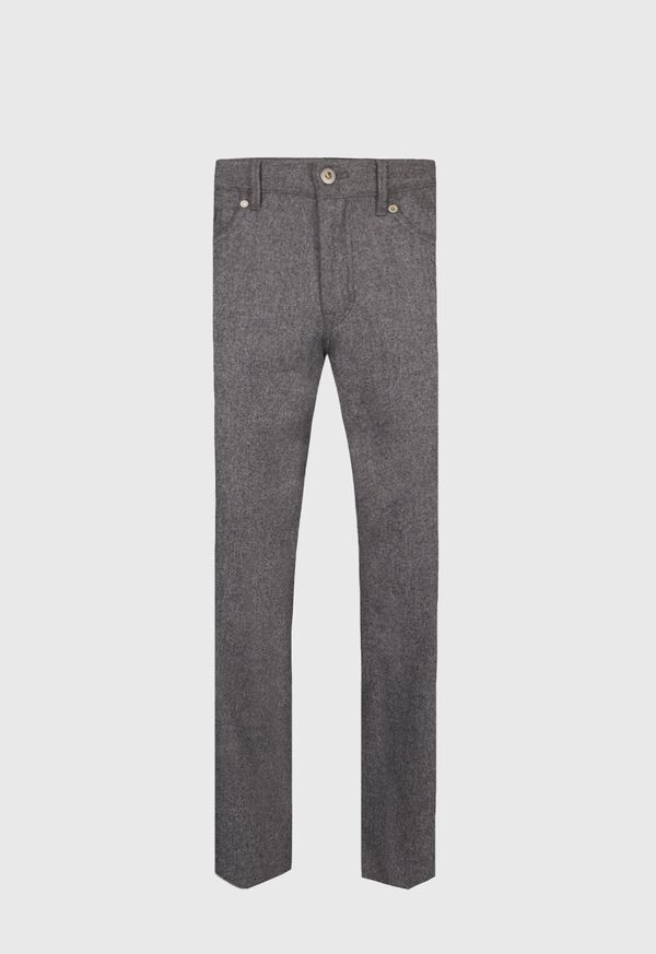 Wool Carded Flannel 5-Pocket Pant
