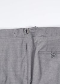 Light Grey Mini Houndstooth Wool Blend suit, thumbnail 7