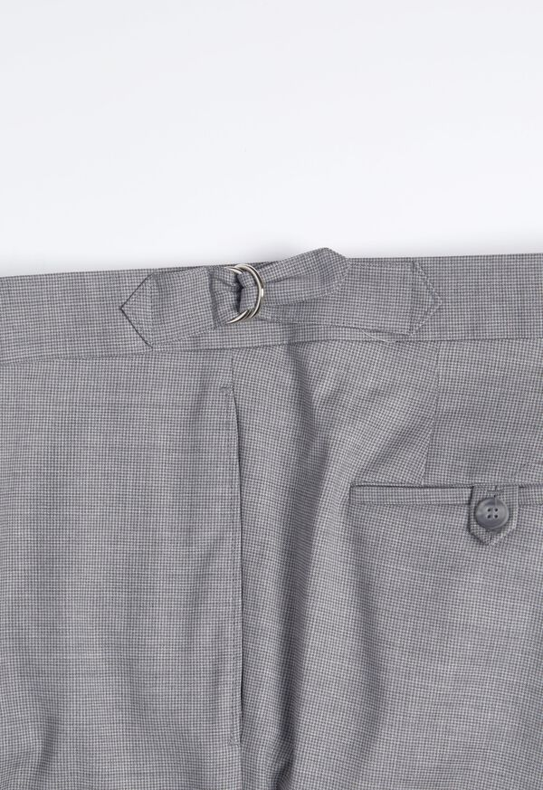 Light Grey Mini Houndstooth Wool Blend suit, image 7